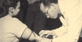 Salk vaccination